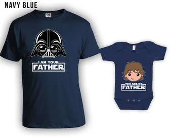 Matching Father Son Shirts I Am Your Father Shirt Son Baby Bodysuit Matching Family Shirts First Fathers Day Men's Todder Tee CT-838-839