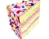Cake Pinata - Mini Piñata -Cake Slice Piñata - Sprinkles Party - Photo Prop - Desk Decor - Party Favor -Birthday Gift