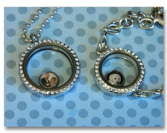 Custom Floating Locket Photo Charm