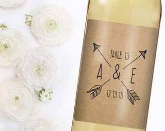 Wedding Table Number - Custom Wine Label - Personalized Wine Label - Wedding Wine Bottle Label - Wedding Table Numbers