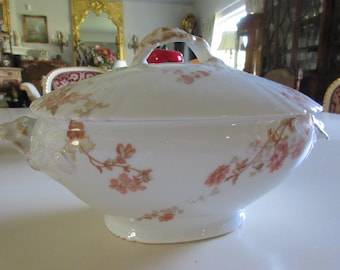 FRANCE JEAN POUYAT Limoges Casserole Dish with Handles and Lid
