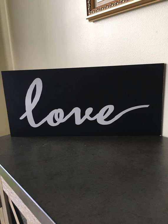 Items Similar To Love Home Decor Love Wood Sign Love
