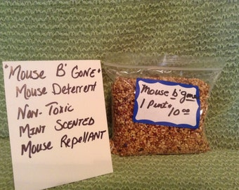Mouse B Gone, Mint Scented Mouse Repellent, Non Poisonous