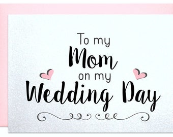 Wedding card, to mom, mother of the bride, cards mother of the groom card best mother card from daughter to go with mother of the bride gift