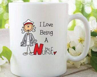I Love Being A Nurse Mug Nurse Present Gift Christmas Gift Birthday Gift For Mum Nurse Gift Present Secret Santa Work Mug WSDMUG241