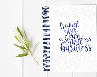 Small Business Planner - Year Fill in Calendar Planner Notebook - Weekly Planbook - Mom Boss Schedule Sister Shop Maker