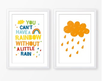 kids poster,cloud poster,typography poster,motivational quote,nursery poster,nursery quote,children wall art,poster pack,rainbow poster