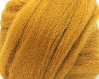 Merino Wool Combed Top/Roving by the Ounce or by the Pound - Ochre