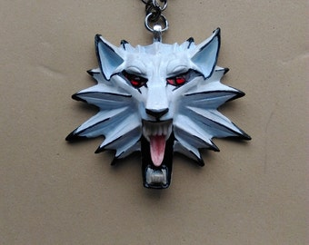 Witcher White Wolf pendant