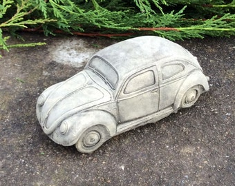 Stone VW Car Garden Ornament Volkswagen Beetle Bug Herbie