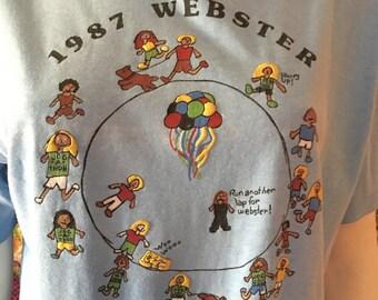 Vintage Webster Jog-a-thon Tee - MALIBU '87