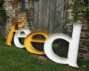 Vintage French metal letters