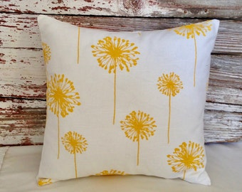 dandelion pillow cover yellow & white