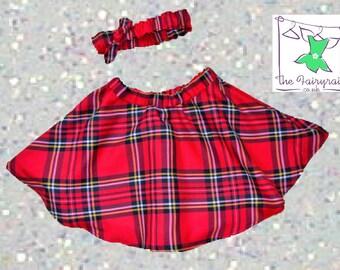 Tartan Skirt & Headband