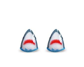 Shark Earrings - Shark Stud Earrings - Shark - Jaws Earrings - Fish Earrings - Fish Jewelry - Cute Animal Stud Earrings - Cute Earrings