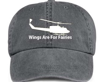 HELICOPTER WINGS Are For Fairies Baseball Style Cap Hat
