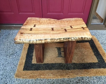 SOLD - Live Edge Spalted Maple Coffee Table