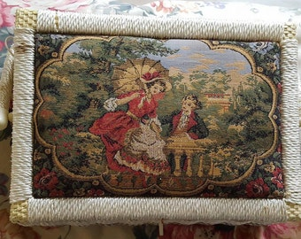 18th Century Style Vintage Sewing Basket Made in Korea