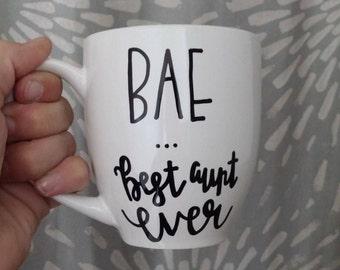 BAE | Best Aunt Ever | Aunt Mug | Auntie Mug | Coffee Mug | Tea Mug | Aunt Gift | Auntie Gift