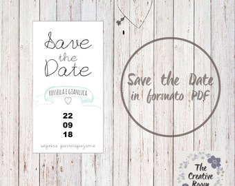 SAVE THE DATE card in pdf format