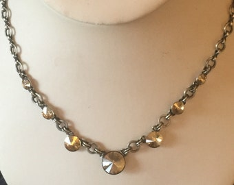 Konplott Miranda Ko, Swarovski Crystal and Oxidised metal Necklace