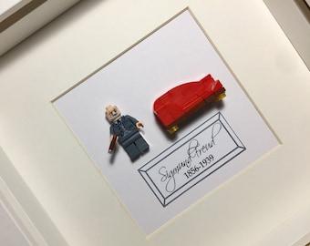 Sigmund Freud Psychology Lego Framed Minifigure Art Gift