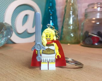 She-Ra Lego® Swift Wing Keychain Cartoon He-Man Minifigure Keyring Gift
