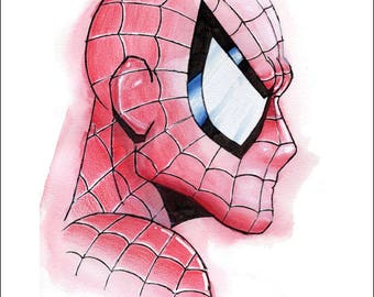 "Spider-man Print by Kevin L. Kuder - 8.5""x11"""