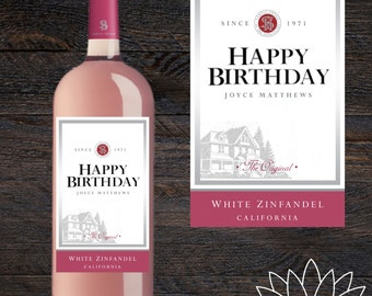 Birthday Custom Wine Label