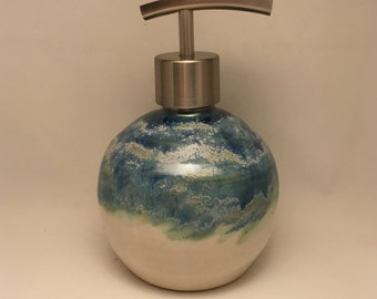 Handmade Pottery Soap Dispenser ,Ceramic soap or lotion pump
