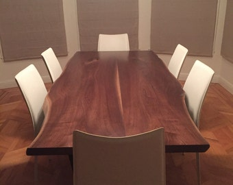 Natural Edge Black Walnut Dining Table