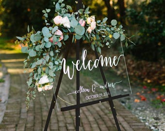 Wedding Welcome Sign - Wedding Signs - Acrylic Wedding Sign - Lucite Wedding Sign - Wedding Signs - Acrylic - Acrylic Wedding Signs