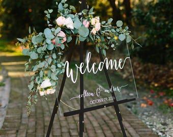 Wedding Welcome Sign - Wedding Signs - Acrylic Wedding Sign - Wedding Signs - Acrylic - Acrylic Wedding Signs