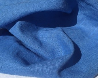 """54"""" Baby Blue Linen Flax and Rayon Blend Light Weight Woven Fabric By the Yard BTY"""