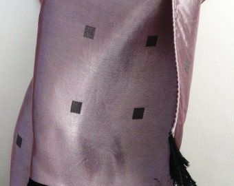 1960's Pink and Grey Patterned Scalf