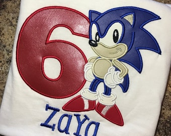 Personalized Birthday Sonic the Hedgehog shirt ONLY