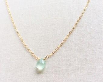 Chalcedony Necklace, Blue Chalcedony, Aqua Chalcedony, Chalcedony Jewelry, Bridesmaid necklaces - Bridesmaid Jewelries, Bridesmaid gift,GN15