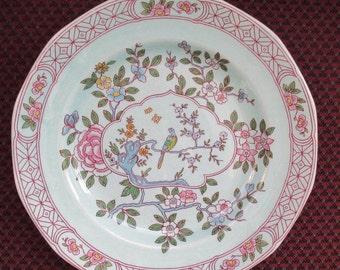 Calyx Ware Singapore Bird Dinner Plate Adams Ironstone England