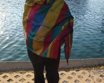 Women green, yellow, red Shawl/Large flag Shawl/scarf ethiopia/ethiopian flag scarf/ saba scarf/silk scarf