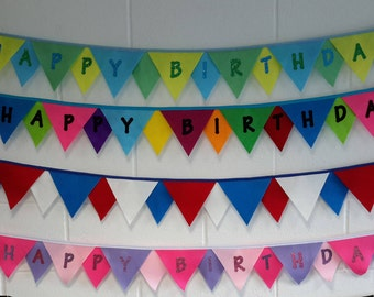 Fun and funky Personalised Felt Bunting. Personalised to your requirements.