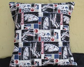 Star Wars Pillow Cover - Gift - Envelope Closure - Decorative Pillow Cover - Thow Pillow - 16x16 - Nerdy Home Decor