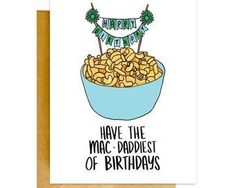 Funny Birthday Card, Funny Macaroni Card, Birthday Card, Mac and Cheese Card, Birthday Card, Funny Card, Cheesey Birthday Card, Funny Cards