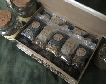 From A Fable Bath Salts Sampler with Herb Blends, Organic