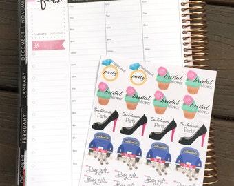 Wedding Event / Bridal Shower / Engagement / Bachelorette Party Planner Stickers