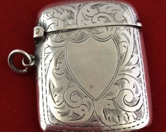 Silver vesta case 1925 by John Thomppson and sons