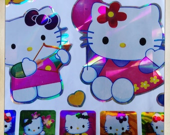 Hello Kitty Japanese Animation Large Packet Of 20 Laser Prism Stickers Scrapbooking Decoration Craft