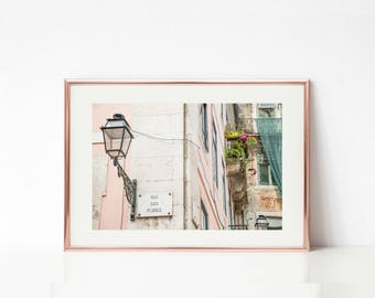 Blush Art Decor, Portugal Photography, Buildings Wall Prints, Lisbon