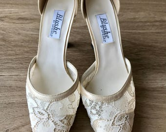 Cream Blushe by Spiegel pumps size 8