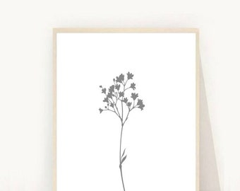 Tree Print, Abstract Tree Art, Grey Tree Print, Printable Wall art, Modern Wall Art, Minimalist Print, Instant Download