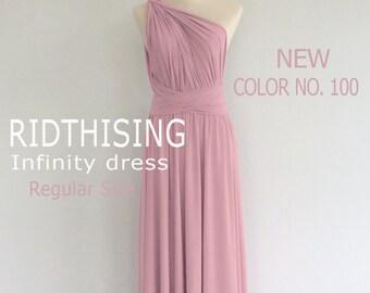 Pink Bridesmaid Dress Infinity Dress Prom Dress Convertible Dress Wrap Dress